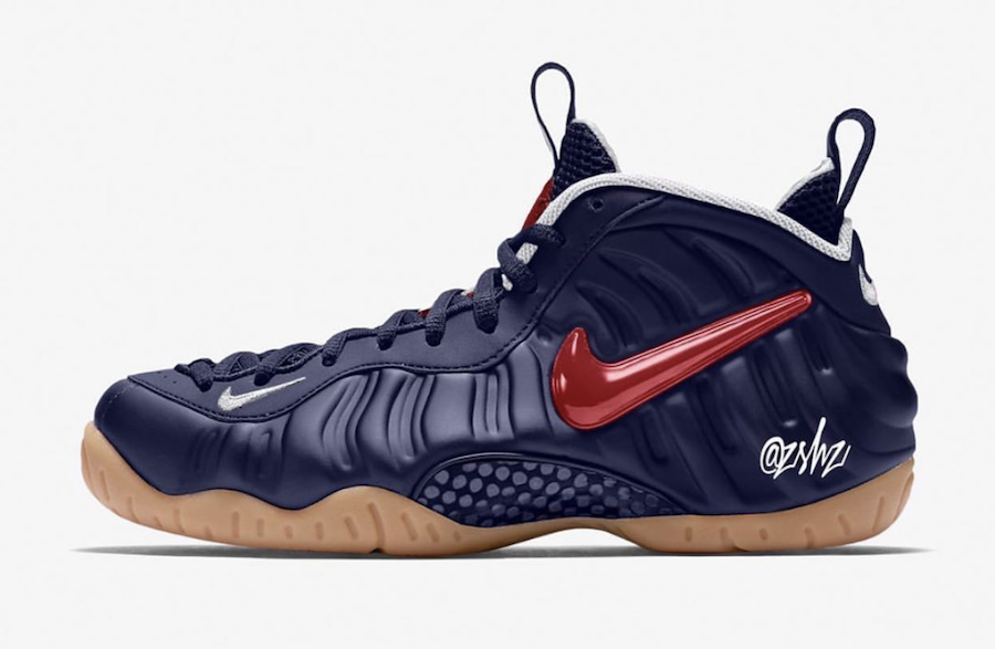 Nike Air Foamposite Pro Blue Void Gum Light Brown White University Red CJ0325-400 Release Date