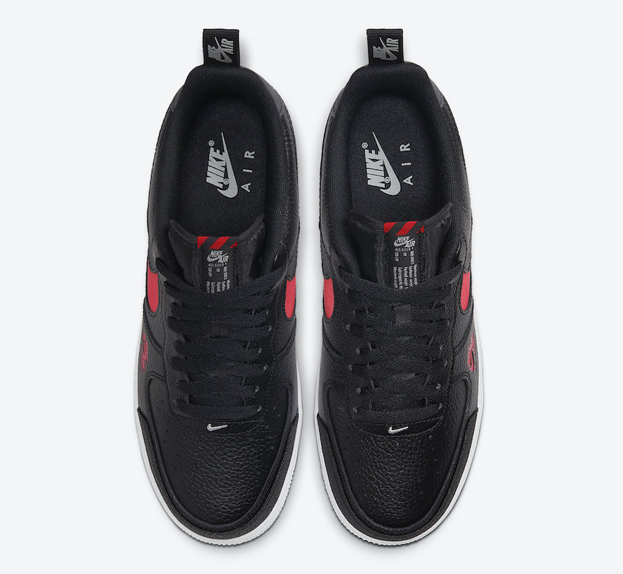 Nike Air Force 1 Low LV8 Utility Black University Red CW7579-001 Release Date
