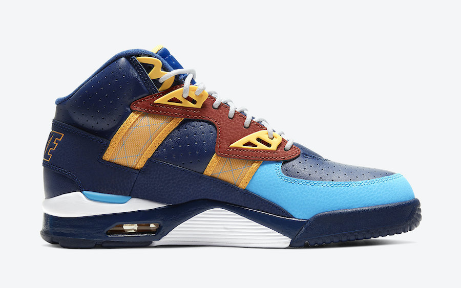 Nike Air Trainer SC High Navy Blue Orange CW6023-400 Release Date