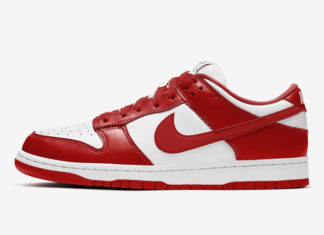 Nike Dunk Low White University Red CU1727-100​​​​​​ Release Date