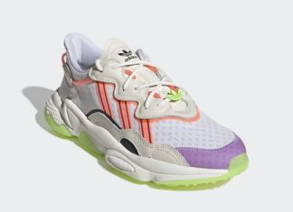 adidas Ozweego Off White Signal Green Glory Purple FX3814 Release Date