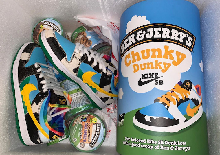 Ben & Jerry's x Nike SB Dunk Low Chunky Dunky CU3244-100 ...