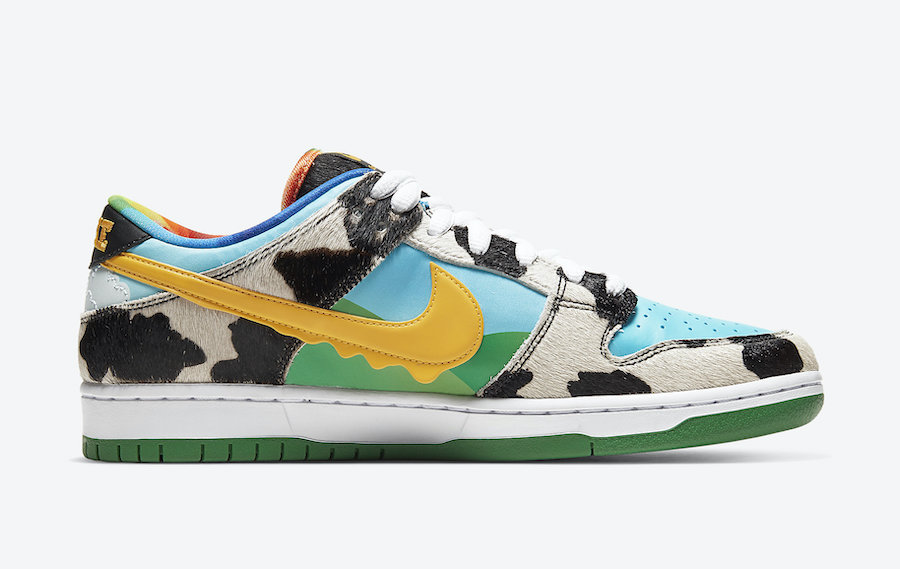Ben and Jerry's Nike SB Dunk Low Chunky Dunky CU3244-100 Release Date Price