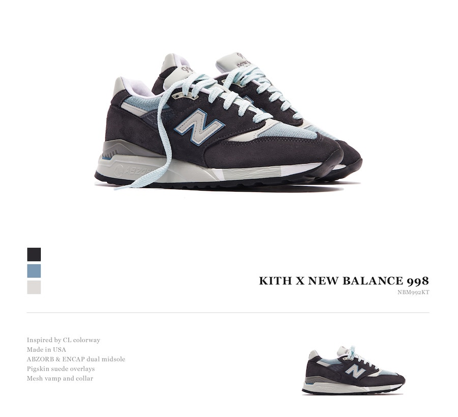 Kith New Balance 998 Release Date