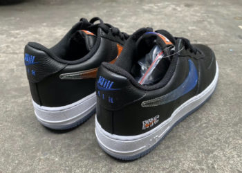 Kith Nike Air Force 1 Low Black Team Orange Rush Blue CZ7928-001 Release Date