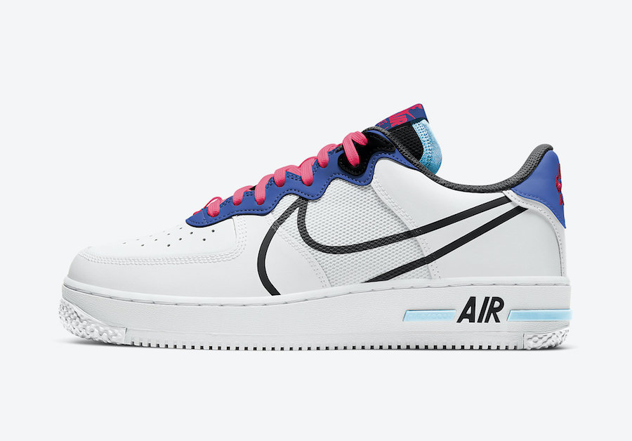 Nike Air Force 1 React Astronomy Blue Laser Crimson CT1020-102 Release Date