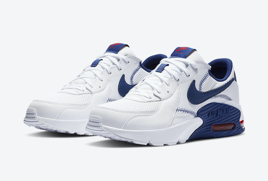 Nike Air Max Excee White Navy Blue Red CZ9168-100 Release Date