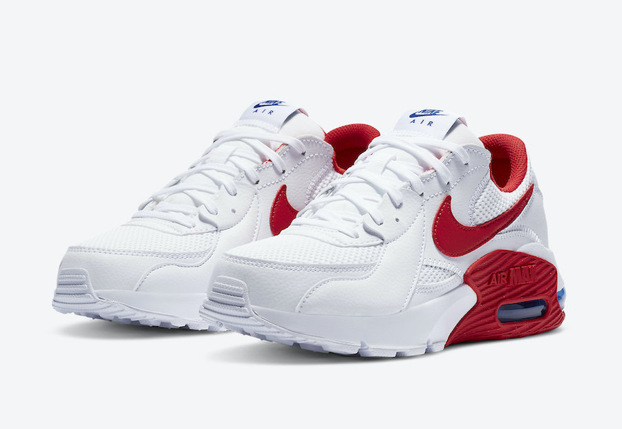 Nike Air Max Excee White Red CZ9373-100 Release Date