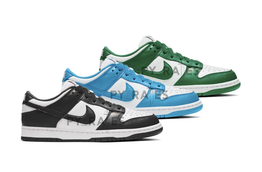 Nike Dunk Low White Black Team Green University Blue 2021 Release Date