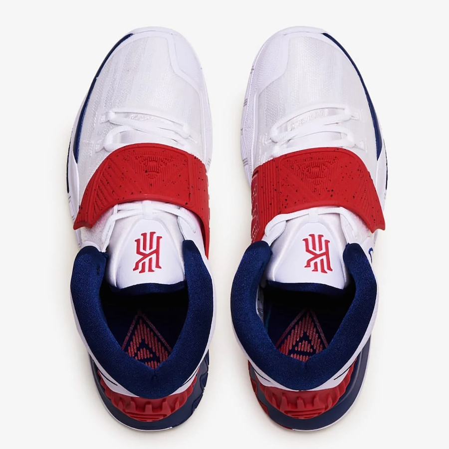 Nike Kyrie 6 USA White Navy Red BQ4630-102 Release Date