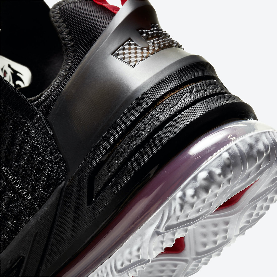 Nike LeBron 18 Black University Red White CQ9283-001 Release Date