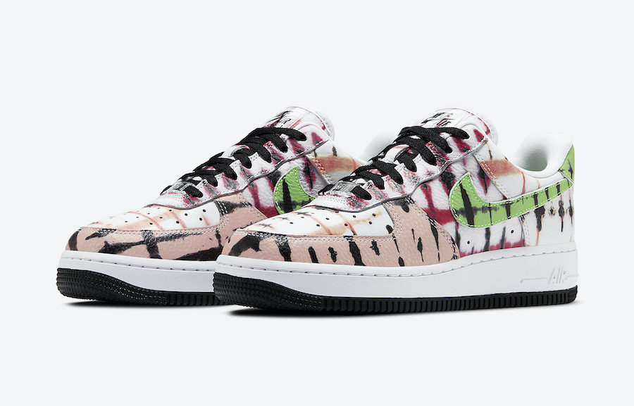 Nike Air Force 1 Low Black Tie Dye CW1267-101 Release Date
