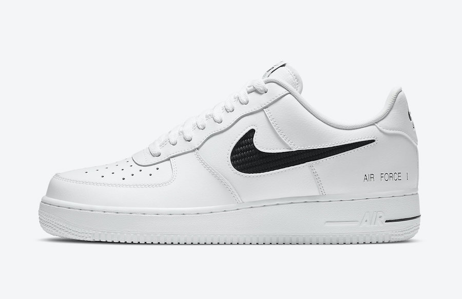Nike Air Force 1 White Cut-Out Swoosh CZ7377-100 Release Date