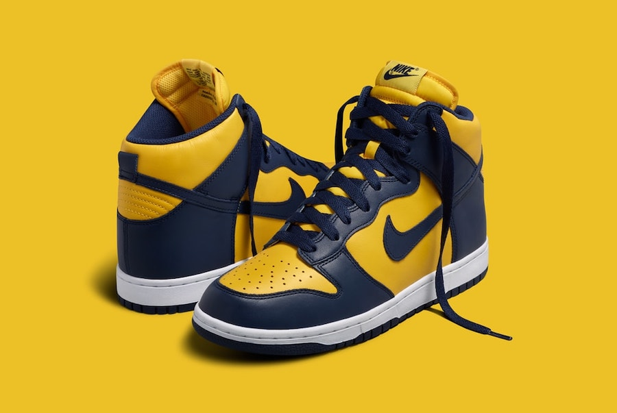 Nike Dunk High Michigan CZ8149-700 2020 Release Date