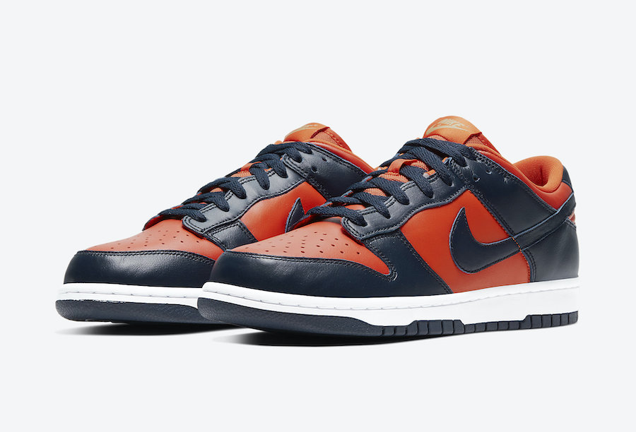 Nike Dunk Low Champ Colors University Orange Marine CU1727-800​​​​​​​ Release Date