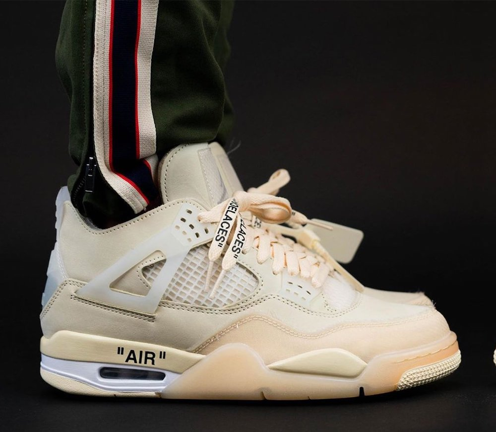 Off-White Air Jordan 4 CV9388-100 Release Date On-Feet