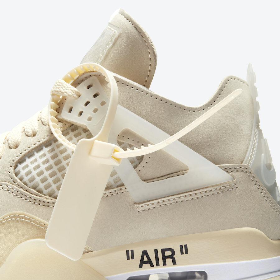 Off-White Air Jordan 4 Sail CV9388-100 2020 Release Date