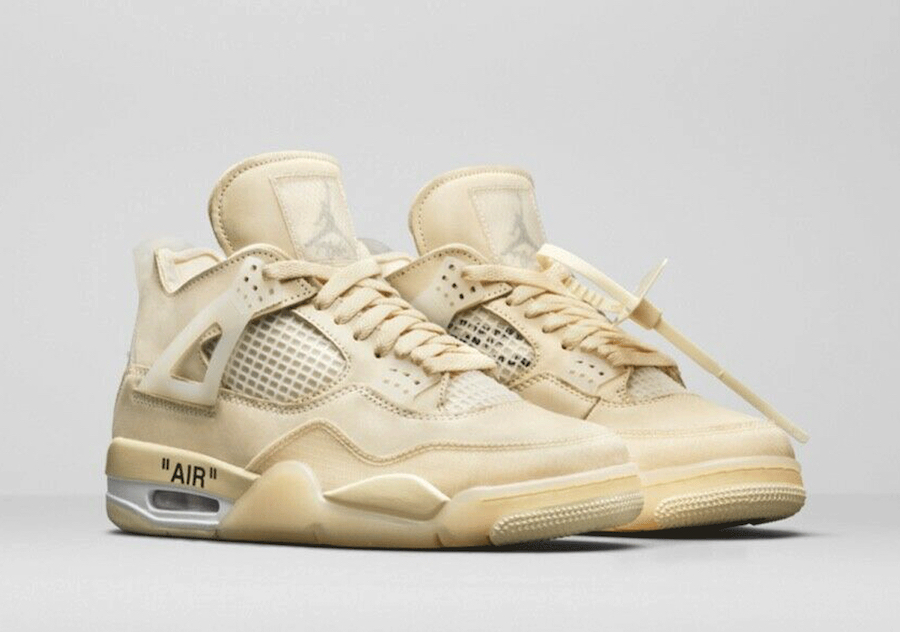 Off-White Air Jordan 4 Sail CV9388-100 Release Date Pricing