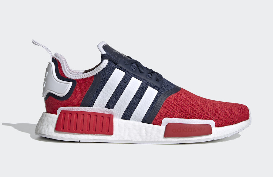 adidas NMD R1 Navy Scarlet FV1734 Release Date