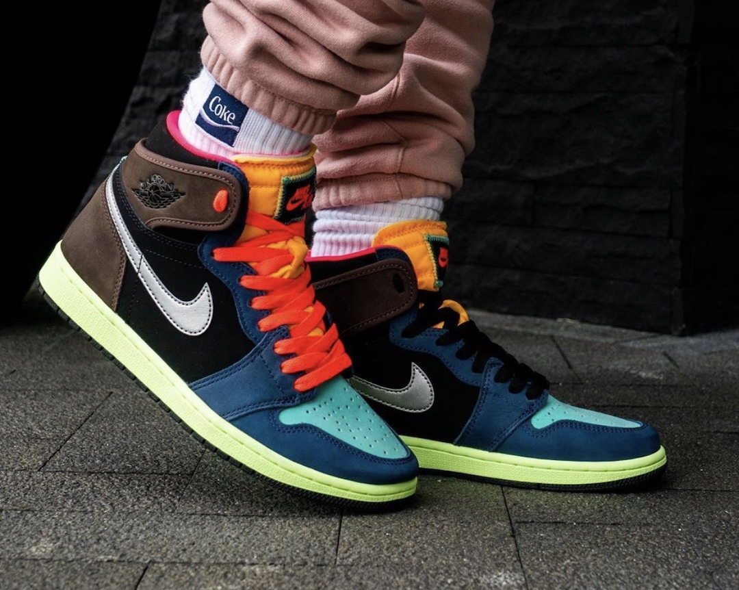 Air Jordan 1 Bio Hack 555088-201 Release Date On-Feet