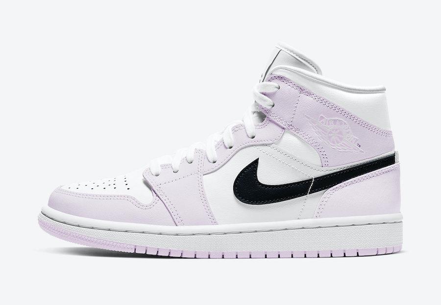 Air Jordan 1 Mid White Pink Black BQ6472-500 Release Date