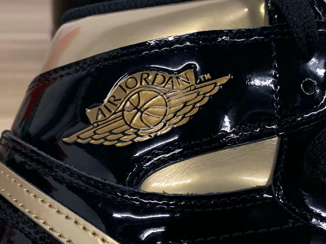 Air Jordan 1 Patent Leather Black Gold 555088-032 Release Date Pricing