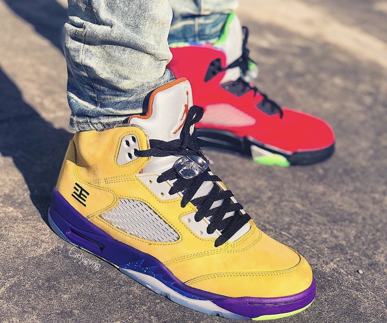 Air Jordan 5 What The CZ5725-700 On-Foot