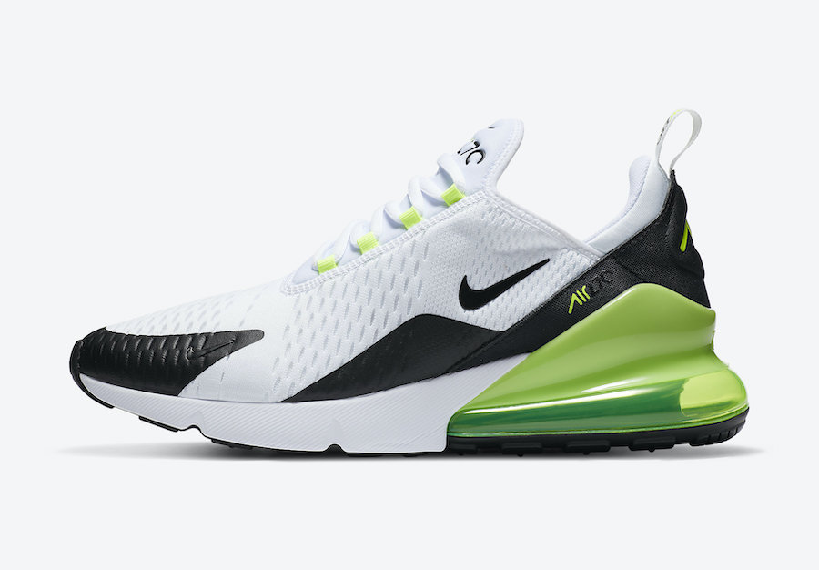 Nike Air Max 270 White Black Volt DC0957-100 Release Date