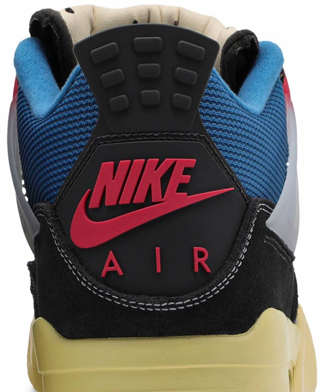 Union Air Jordan 4 Off Noir Brigade Blue Dark Smoke Grey Light Fusion Red DC9533-001 Release Date