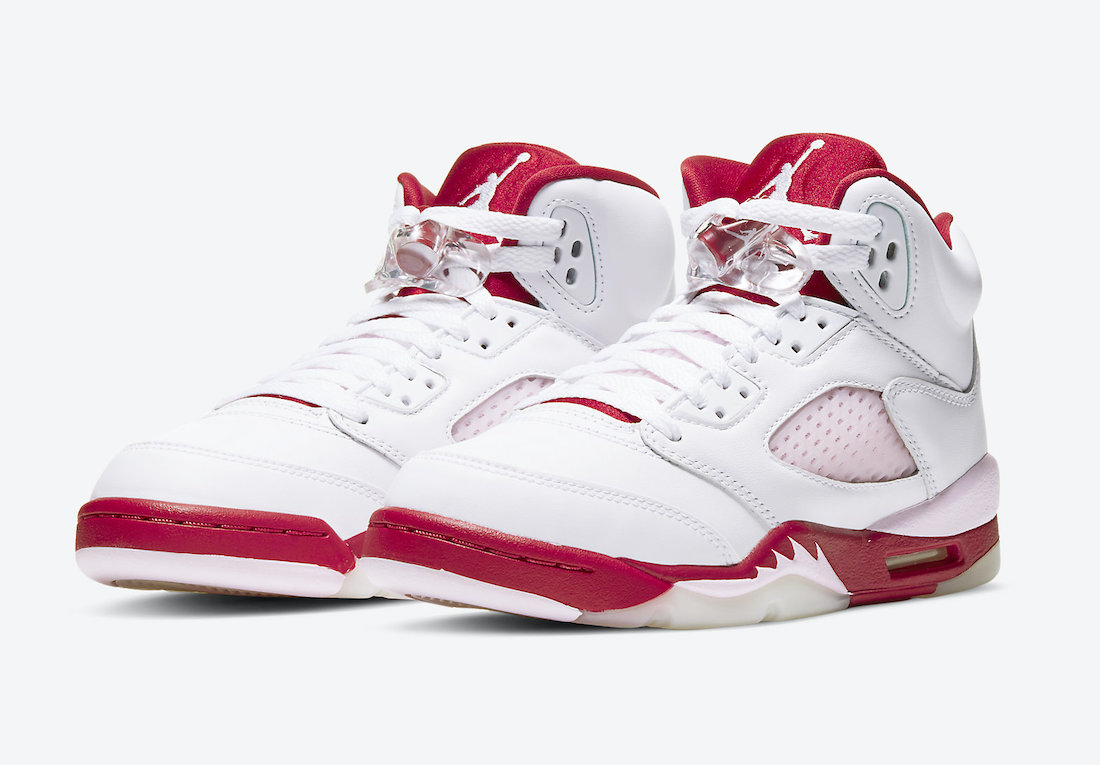 Air Jordan 5 GS Pink Foam Gym Red 440892-106 Release Date Price-4