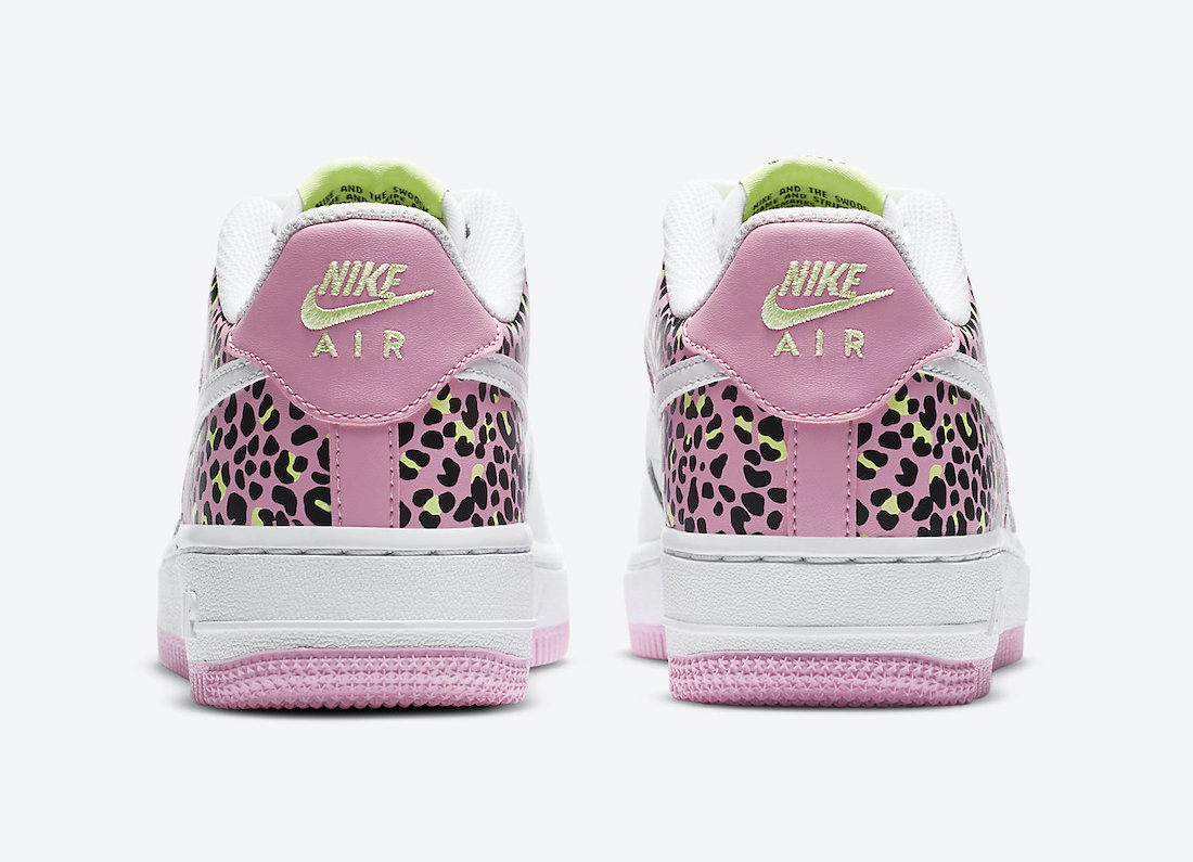 Nike Air Force 1 Low GS Leopard Pink Rise DA4673-100 Release Date
