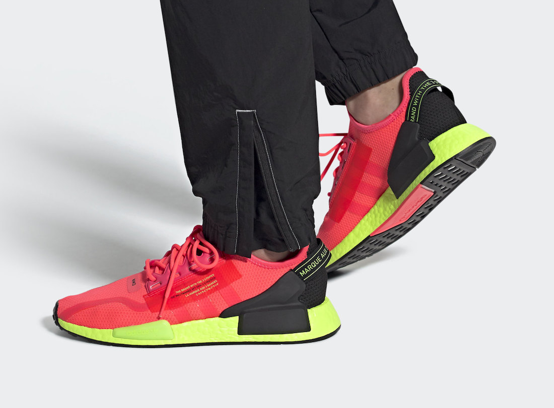adidas NMD R1 V2 Signal Pink Green FY5919 Release Date