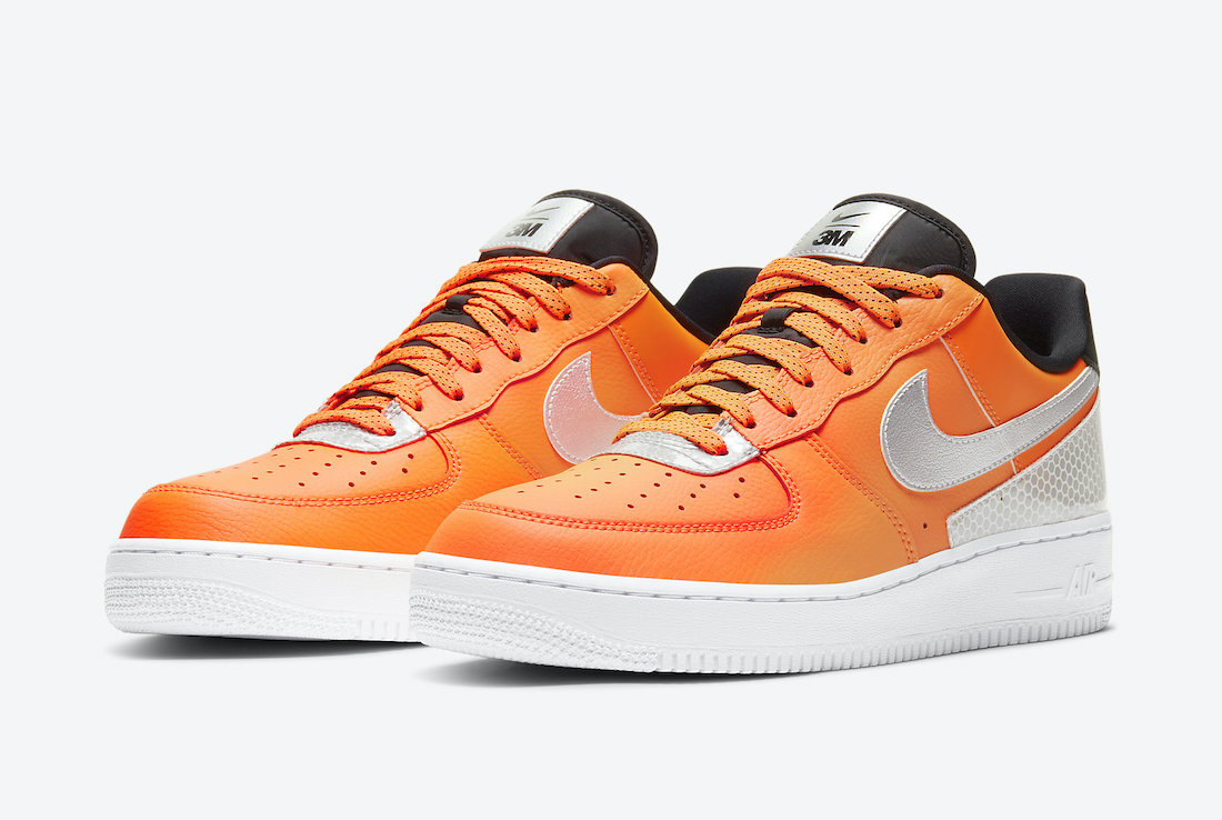 3M Nike Air Force 1 Low Total Orange CT2299-800 Release Date