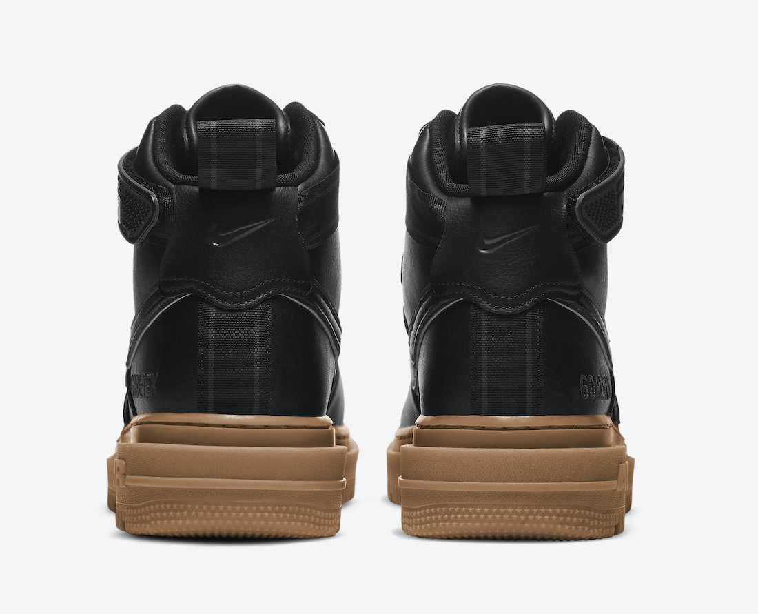 Nike Air Force 1 Gore-Tex Boot Black Gum CT2815-001 Release Date