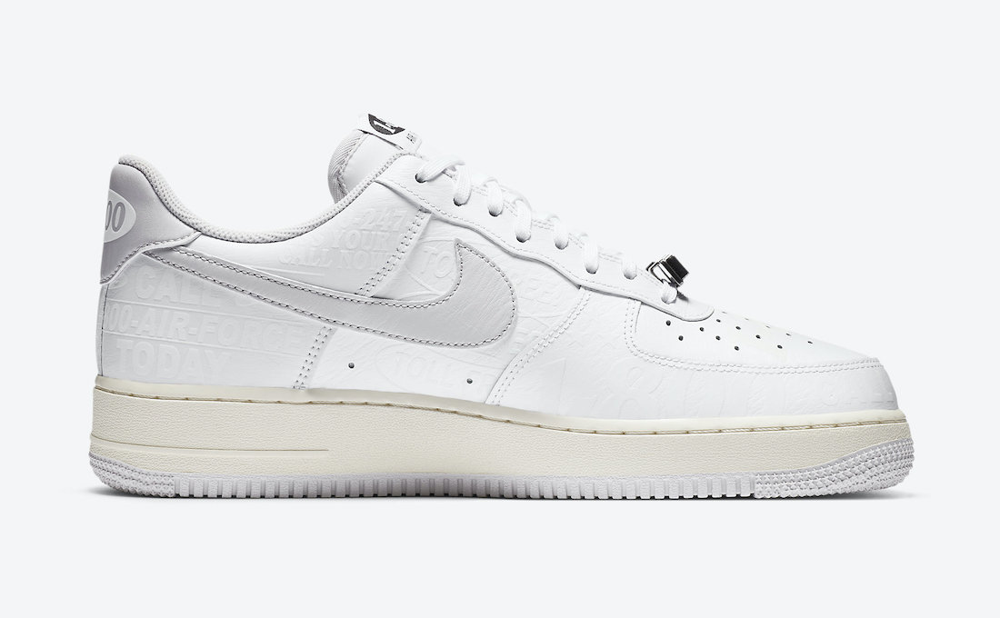 Nike Air Force 1 Low Toll Free CJ1631-100 Release Date