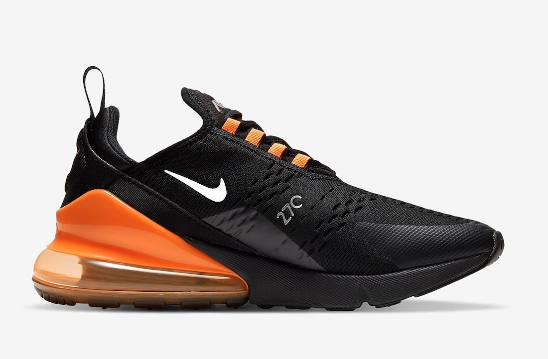 Nike Air Max 270 Black Orange DC1938-001 Release Date