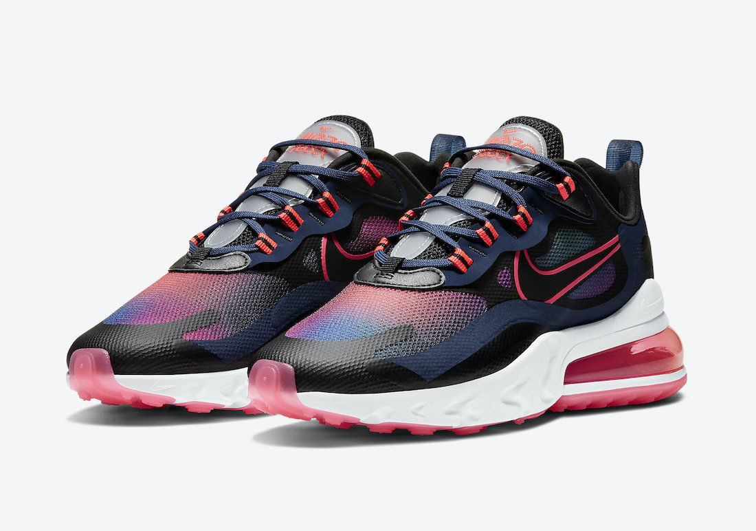 Nike Air Max 270 React Navy Crimson Pink CK6929-400 Release Date