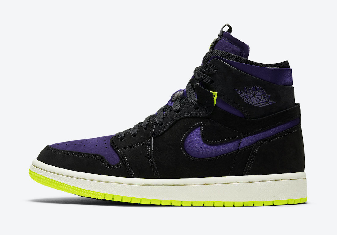 Air Jordan 1 High Zoom Black Court Purple Lemon Venom CT0979-001 Release Date