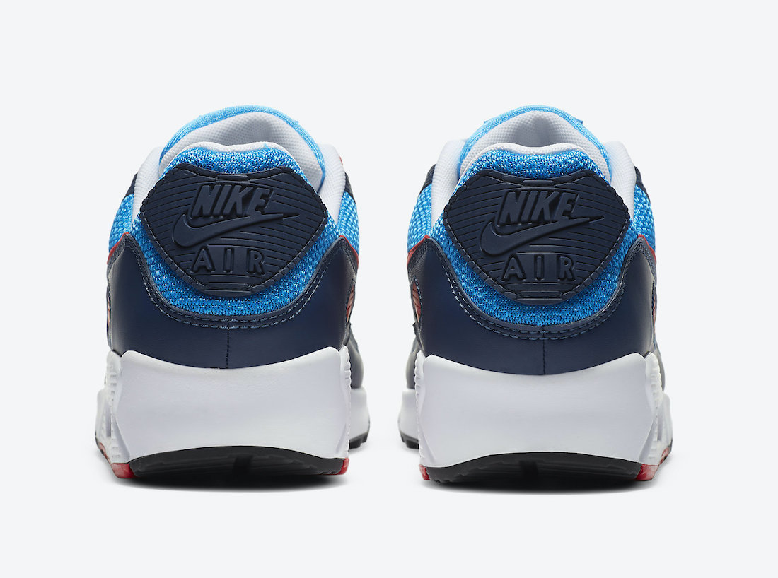 Nike Air Max 90 Photo Blue University Red CT1687-400 Release Date