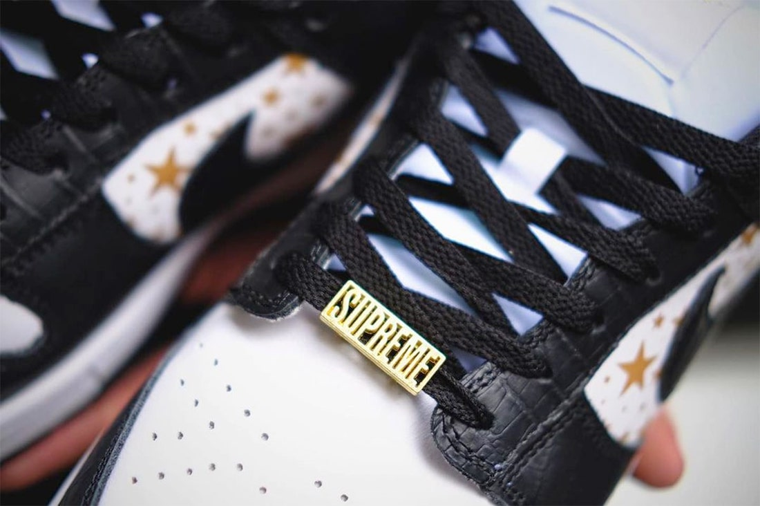 Supreme Nike SB Dunk Low Black Stars DH3228-102 Release Date