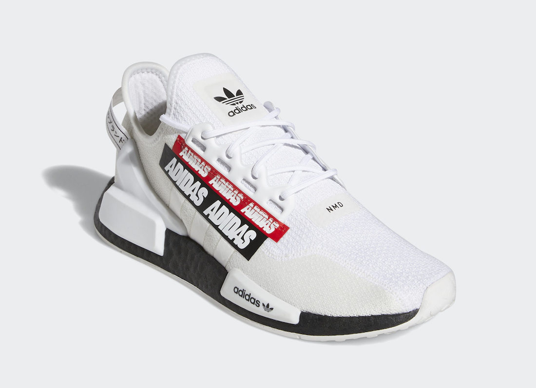 adidas NMD R1 V2 White Black Red H02537 Release Date