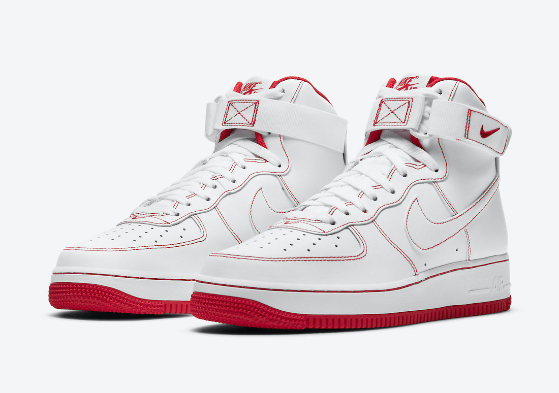 Nike Air Force 1 High White Red CV1753-100 Release Date
