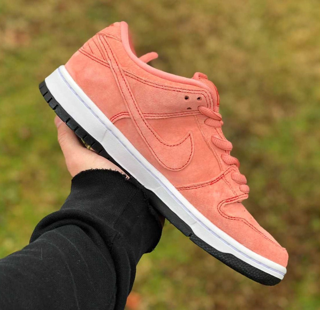 Nike SB Dunk Low Atomic Pink Pig CV1655-600 Release Date In-Hand