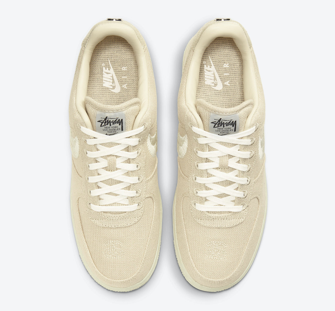 Stussy Nike Air Force 1 Fossil CZ9084-200 Release Date