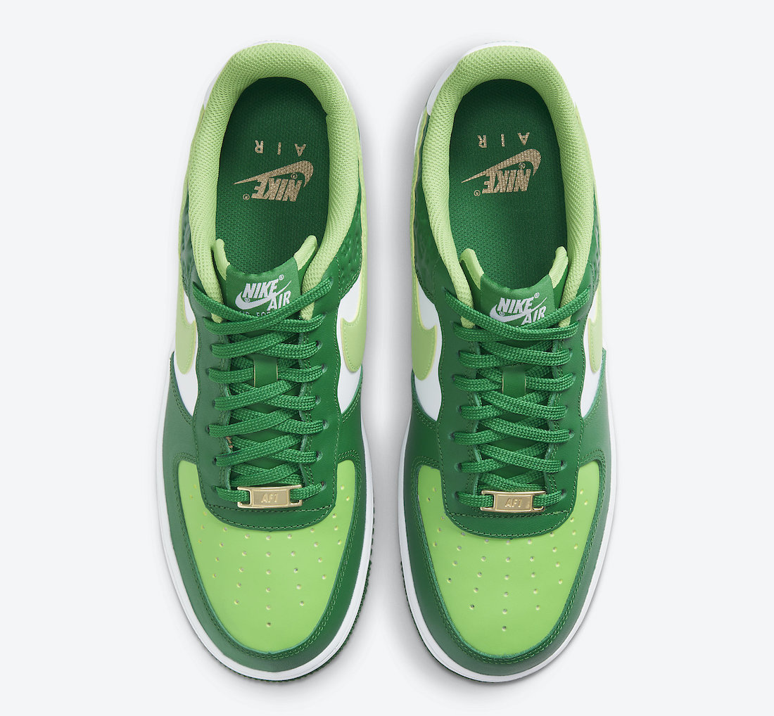 Nike Air Force 1 St Patricks Day DD8458-300 Release Date