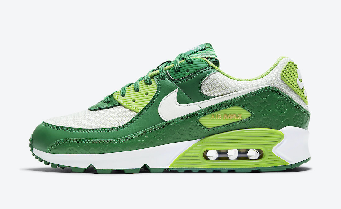 Nike Air Max 90 St Patricks Day 2021 DD8555-300 Release Date