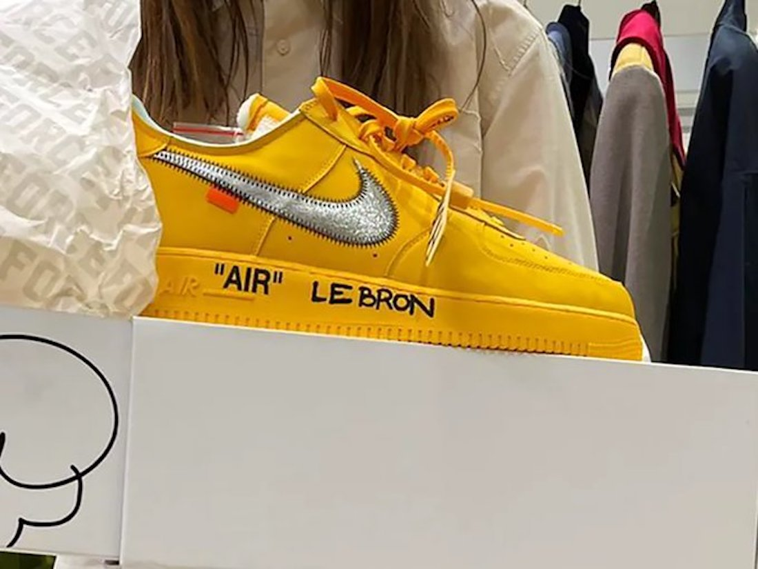 Off-White Nike Air Force 1 University Gold Release Date