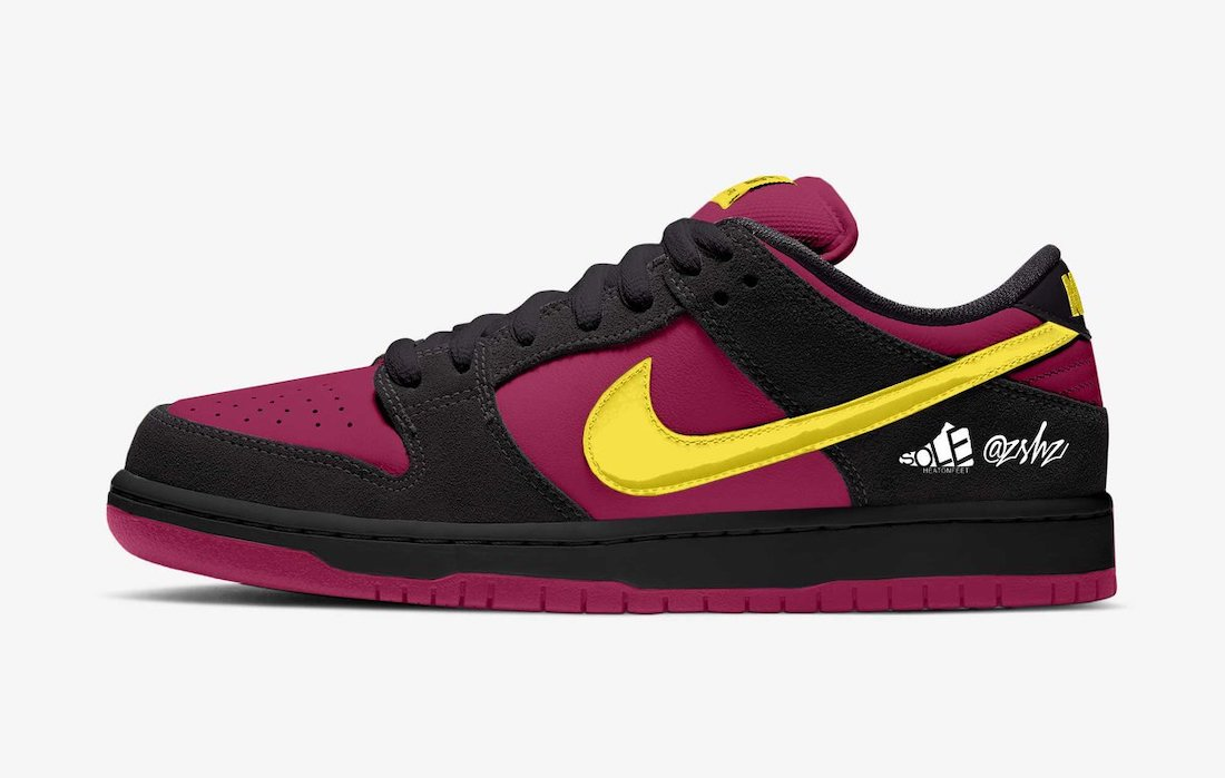 Nike SB Dunk Low Red Plum Black Taxi Citron BQ6817-501 Release Date