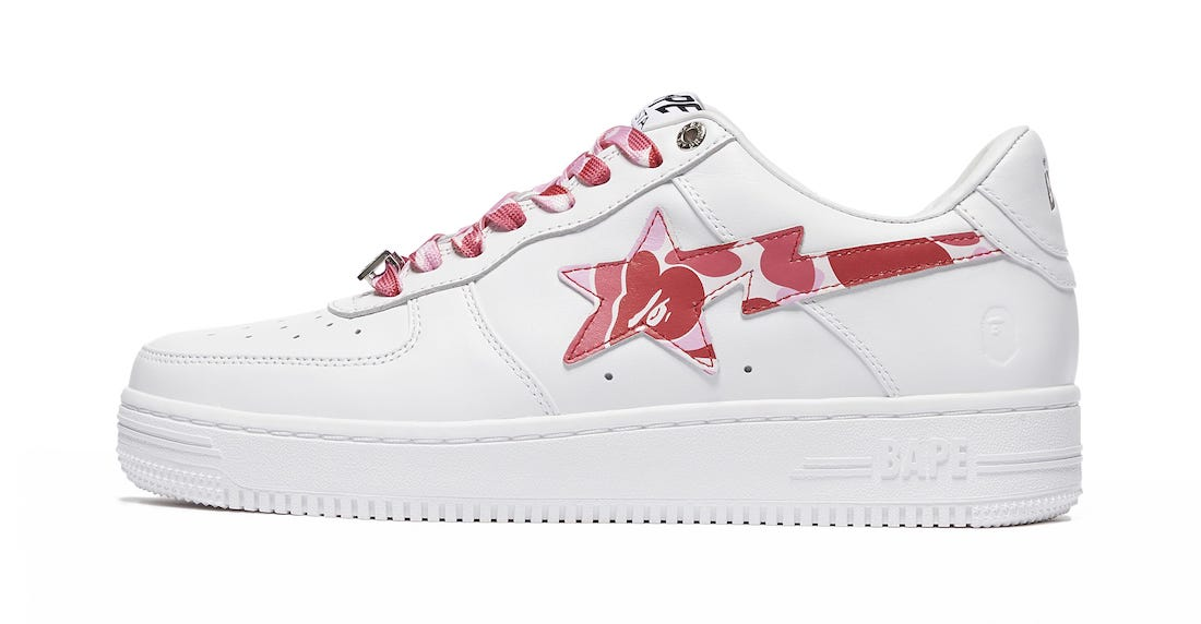Bape Sta White Pink Release Date