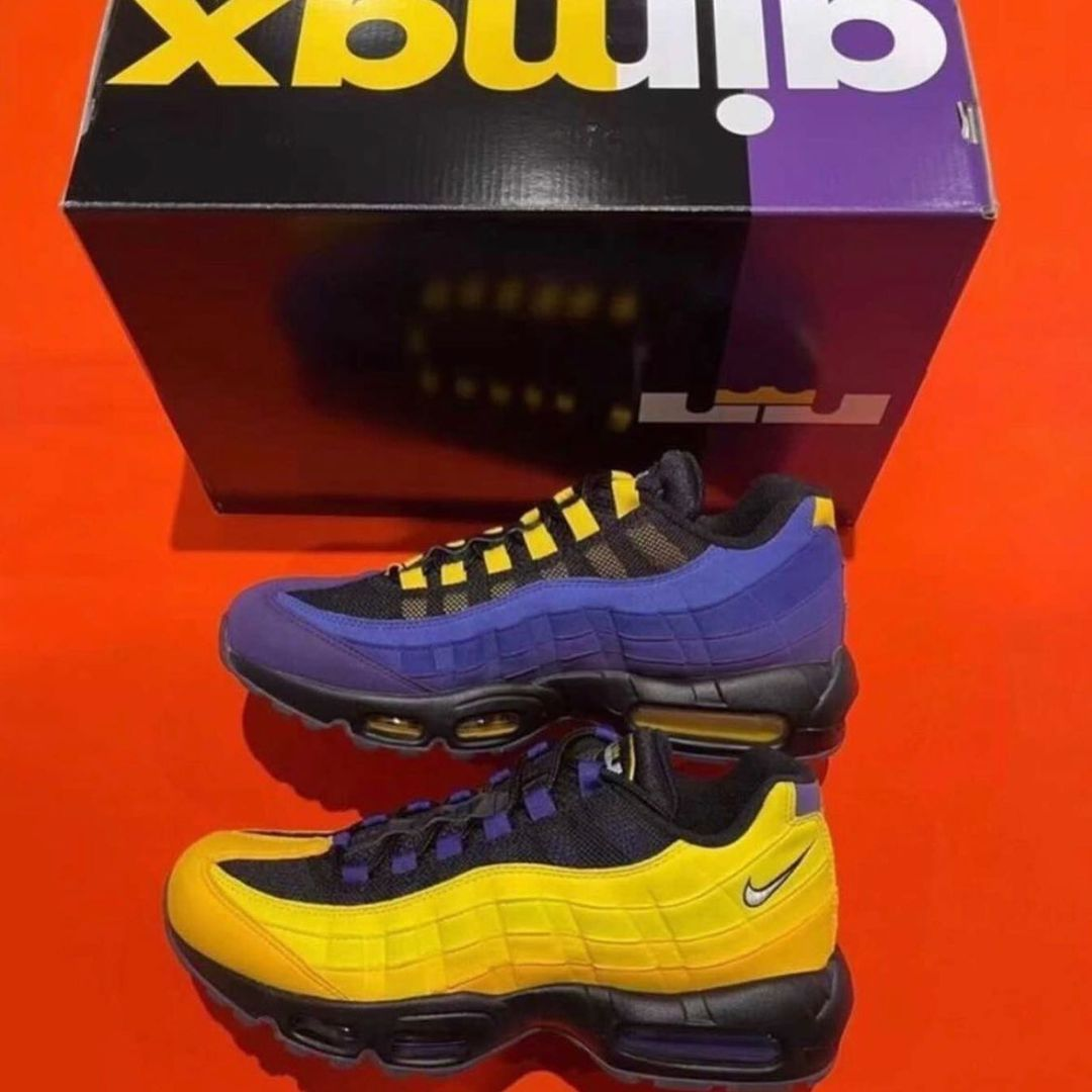 LeBron James Nike Air Max 95 Lakers CZ3624-001 Release Date